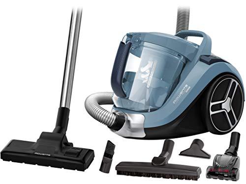 Rowenta RO4871 Compact Power XXL Animal | Beutelloser Staubsauger | 2,5L Staubvolumen | Kompaktes Design | Extreme Saugleistung | Vacuum-Cleaner | Hocheffizienter Saugkopf | blau/silber