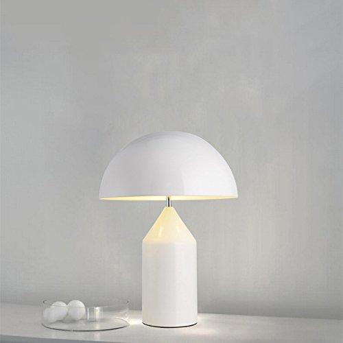 OOFAY LIGHT@ Lampada da Tavolo creatività Testa di Fungo Moderno Atmosfera di Lusso Progettista E27 in Tessuto per Camera Soggiorno Stanza dei Neonati Bedroom Lampada da Comodino,White