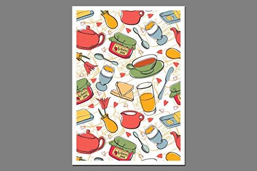 Postkarte - Frühstück - Gutschein Einladungskarte