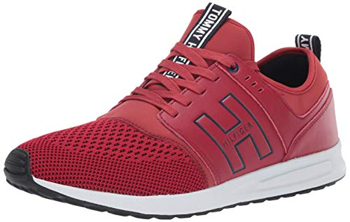 Price comparison product image Tommy Hilfiger Men's Lister Sneaker red / Multi 13 M US