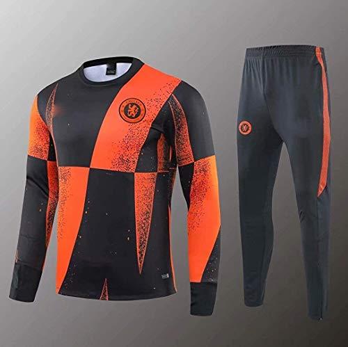 PARTAS Offizielle Fußball-Geschenk Tracksuits Chelsea Football Wear Verein Uniform Langarm-Trainingsanzug Wettbewerb Anzug Chelsea Herren Top + Pants (Size : XL)