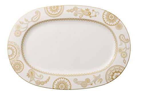 Villeroy & Boch Anmut Samarah Assiette ovale, 41 cm, Porcelaine Bone Chine, Multicolore