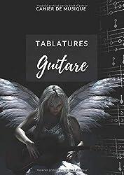 Cahier de Musique pour Guitare (thème Ange) : 120 pages, grand format A4: 7 diagrammes d\'accords + 10 tablatures par page, page paroles - Mémo des accords de base à découper. (French Edition)