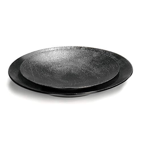 Lambert - Kaori - Rochen Optik - Speiseteller, Teller - Ø: 27,5 cm - mit Metallic Rochen Optik - Steingut - 1 Stück