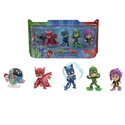 Giochi Preziosi Pj Masks Set di 5 Personaggi