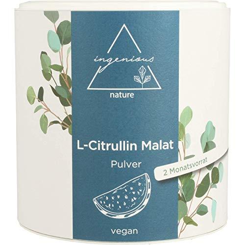 ingenious nature® L-Citrullin Malat 2:1 Pulver 300g Pack - vegan, hohe Reinheit, abgefüllt in Deutschland