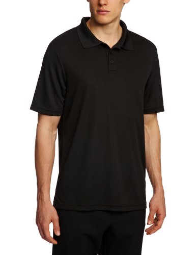 Hanes Herren Polo Shirt , Polo - Schwarz - Black - Small