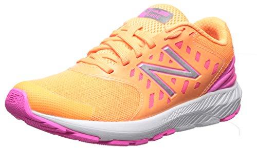 New Balance Girls' Urge V2 FuelCore Running Shoe, mango/light peony, 4 M US Big Kid