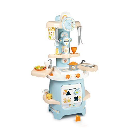 Smoby Cocina Infantil Ptitoo con Formas Encajables y Sonido, 22 Accesorios, Óptimo para Primera Edad (Simba Toys Espana S.L. 310717)