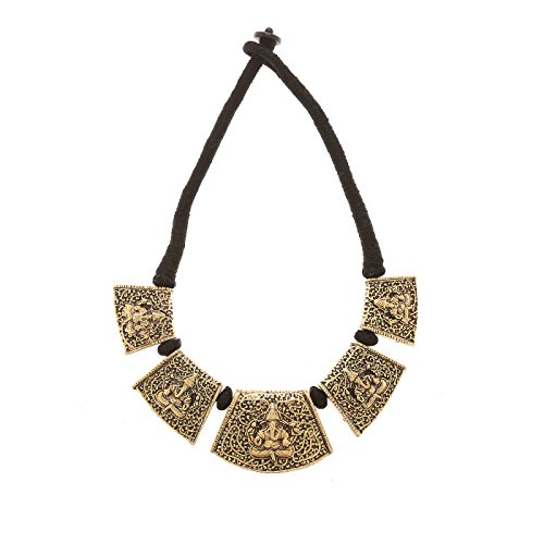Conjunto de collar de joyería de moda y collar étnico para mujer india