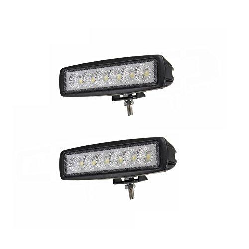 Sailun Luce da lavoro a LED, 18 W, riflettore faro per fuoristrada, 1600 lm, in alluminio pressofuso, IP67,2/4pezzi per set, colore nero