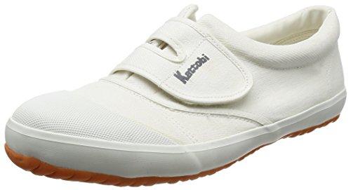 [富士手袋工業] 作業靴 綿キャンバス生地 軽作業用 樹脂芯入り FT-1200 メンズ WHITE 25.0cm