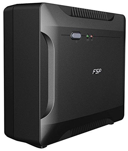 FSP PPF4800305 Fortron Nano 800 USV 800VA/480W, 230V/50HZ, Offline, 1x12V 9AH, 2xSCHUKO Schwarz