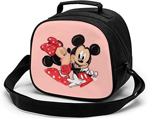 Bolsa de almuerzo para niños, bolsa de almuerzo reutilizable con correa para el hombro y asa