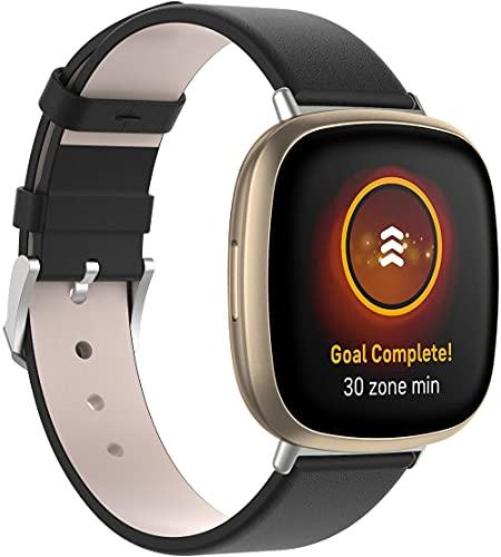 Gransho Quick Release - Compatible con Fitbit Versa 3 / Fitbit Sense Correas de Reloj Cuero (Pattern 5)