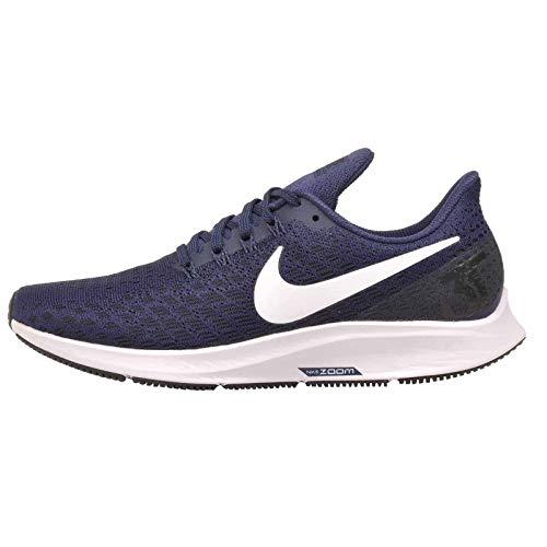 Nike Women's Air Zoom Pegasus 35 Running Shoe (11.5, Midnight Navy/White/Black)