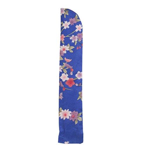 Pochette Protection pour Eventail de 23cm de Long - Bleu Royal