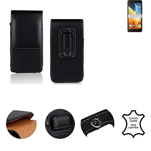 K-S-Trade® Holster Gürtel Tasche Für Energizer Power Max P490S Handy Hülle Leder Schwarz, 1x