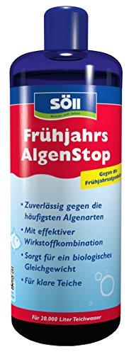 Söll 18760 Algenbekämpfung, FrühjahrsAlgenStop, gegen grünes Wasser im Gartenteich, Algenmittel für Fadenalgen, 1 x 1 L, rot
