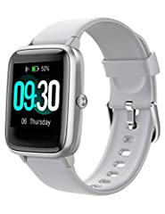 "♥【Smart watch for Android Phones Samsung iPhone】- Compatible with most iOS 8.0 & Android 4.4 above smartphones. Download and install Free ""VeryFitPro"" APP, bind this smartwatch in your cell phone,you can receive alerts of calendar, SMS, incoming call..."
