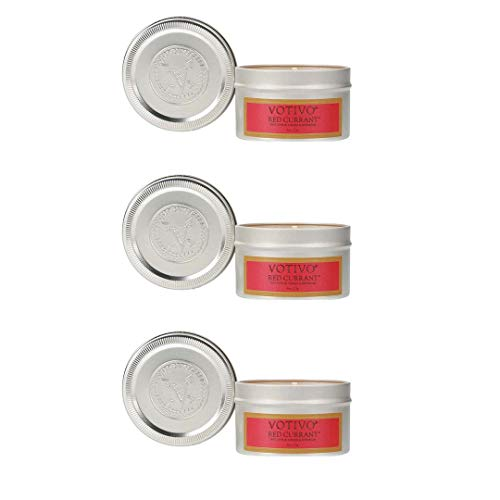 Votivo Aromatic Travel Tin - Red Currant, 3-Pack