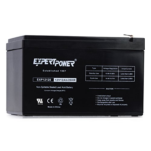 ExpertPower 12 Volt 12 Ah Rechargeable Battery With Nuts & Bolts Included || EXP12120