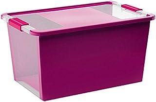 Kis 8454000 0129 01 Boîte de Rangement Bi Box 40 litres en Violet-Transparent, Plastique, 55x35x28 cm