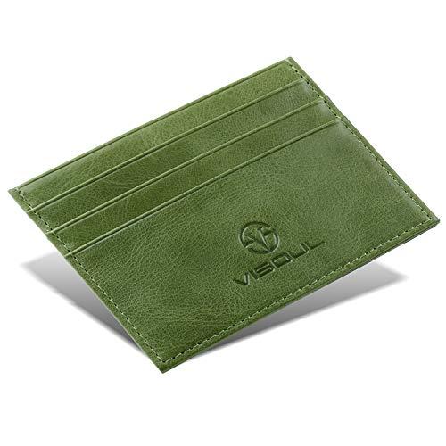 カードケース カード入れ VISOUL 小銭入れ 本革カードケース 定期入れ メンズカードケース カジュアル 免許証入れ レザー ミニ財布 薄型カードケース 軽量ケース(利休鼠)