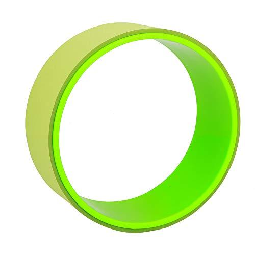 Genericer Rueda de Yoga, 2 Colores Yoga Stretch Bend Balance Wheel Circle para Salud Fitness Ejercicio de Adelgazamiento para Ayudar a liberar la tensión 12.2 * 12.2 * 4.9 in(Verde)