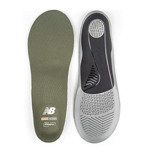 New Balance unisex adult Casual Flex Cushion Insole, Olivine, Large 10.5-12...
