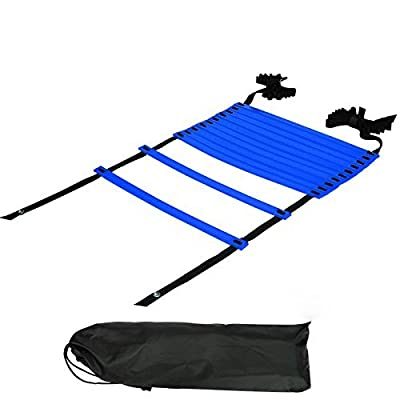 KEVENZ Pro Agility Ladder Agility Training Ladder Speed Flat Rung with Carrying Bag
