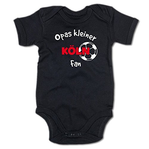 G-graphics Opas Kleiner Köln Fan Baby Body Suit Strampler 250.0292 (0-3 Monate, schwarz)