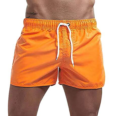 Pantalones Cortos Pantalones Anchos Fuera De Pantalones Cortos Hombre Sexy Shorts Hombre Pantalones Cortos con Bolsillos Pantalones Cortos Hombre Negro Pantalones Slim Fit Naranja M