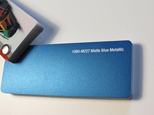 3M (29,78€/m2) Scotchprint Wrap Film Series 1080 Matt Blau Metallic gegossene Autofolie 100 x 152 cm Zuschnitt