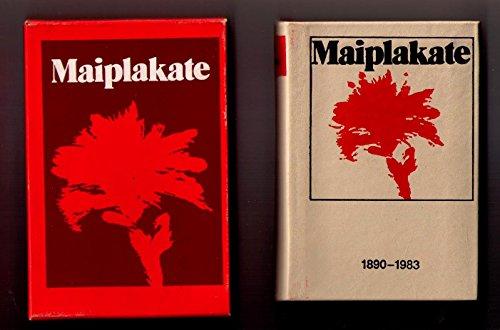 Minibuch DDR - Maiplakate 1890 - 1983. Leder mit Schuber 1. Aufl. 83
