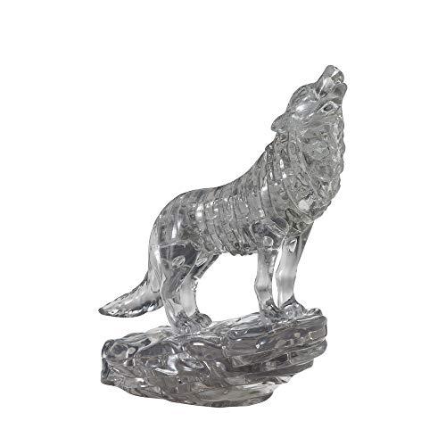 HCM Kinzel Crystal Puzzle 59181 3D Wolf Schwarz 37 Teile