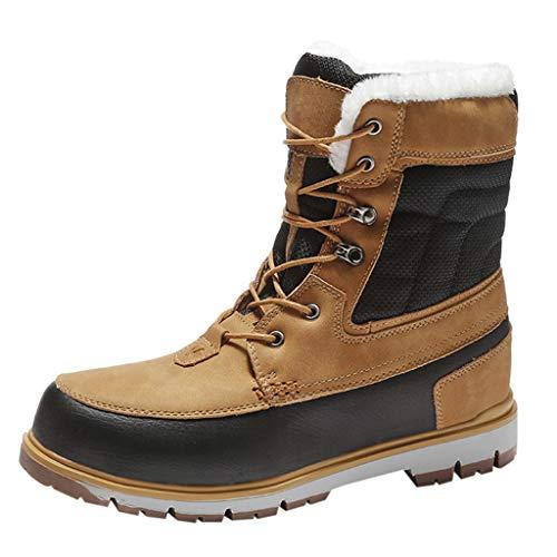 Wanderstiefel Herren Trekking- und Wanderschuhe Stiefeletten Outdoor High Top Sneaker Trekkingschuhe Große Größen Schnürstiefeletten Tactical Boots, Brown