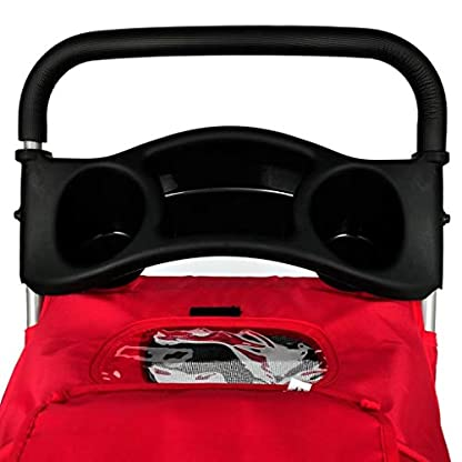 vidaXL Folding Pet Stroller Red Dog Cat Travel Carrier Transport Trolley Pram 6