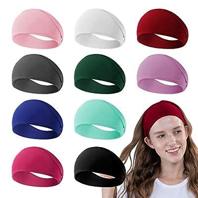 Amazon - 50% Off on  10 Pack Headbands for Women, Elastic Wide Soft Headbands Sweat Head Bands