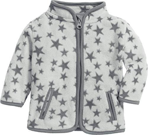 Schnizler Baby-Unisex Fleece Sterne Jacke, Grau (Grau 33), (Herstellergröße: 68)