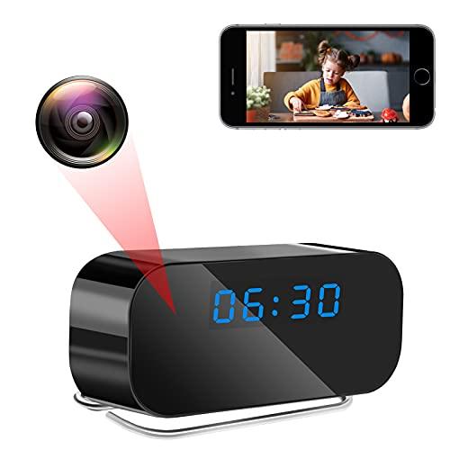 LXMIMI Telecamera Spia WiFi, 1080P HD Telecamera Orologio, 120° Angolo Ampio Telecamera Nascosta con Visione Notturna Rilevamento del Movimento