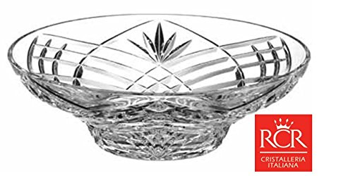 RCR Lead Crystal Orchidea 30cm Bowl Large Crystal Fruit Bowl / salad bowl / centerpiece by RCR