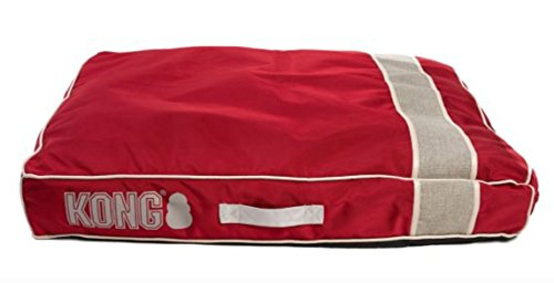 KONG Chew Resistant Heavy Duty Pillow Bed RED