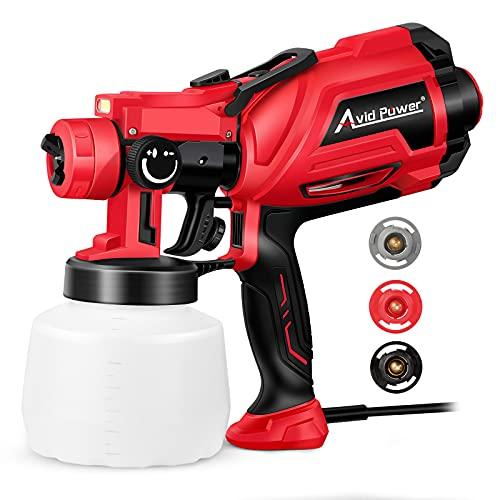 Paint Sprayer, 600W HVLP Spray Gun, Electric Paint...