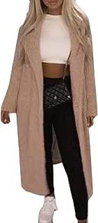 Macondoo Women Overcoat Casual Fleece Outwear Thick Long Pea Coat