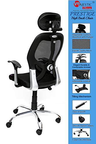 MAJESTIC™ Triple Star Chrome Base High Back Engineered Plastic Frame Office Chair (Black)