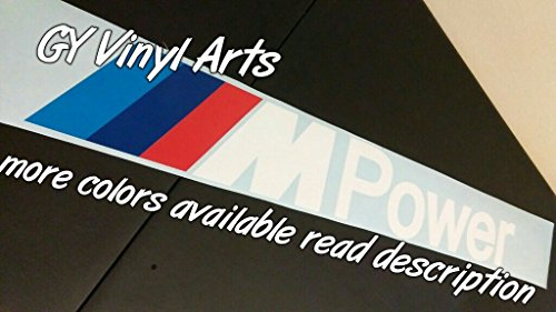 SUPERSTICKI® BMW M Power Windshield Aufkleber Decal Hintergrund/Maße in inch s Cars Stickers Banners Graphic Die Cut