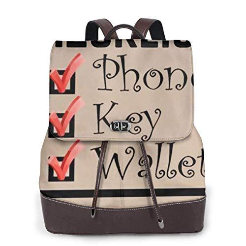 Flyup PU Leder Rucksack Checklist Phone Keys Wallet Women Genuine Leather Backpack Purse Fashion Travel School Mini Shoulder Bag