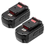 3.6Ah Ni-Mh PC18B Battery for Porter Cable 18V Battery PCC489N PC18B PC18BLEX PCMVC PCXMVC Cordless Tools Drill Batteries 2 Pack