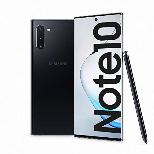 "Samsung Galaxy Note10 Smartphone, Display 6.3"" Dynamic AMOLED, 256 GB Espandibili, SPen Air Action, RAM 8 GB, Batteria 3.500 mAh, 4G, Dual SIM, Android 9 Pie, [Versione Italiana], Aura Black"